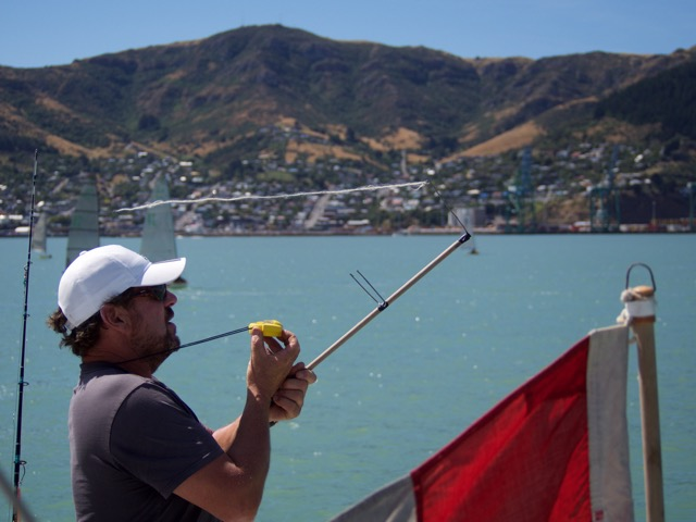 sailing in charteris bay